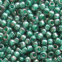 Toho 8/0 Seed Beads Rainbow Light Sapphire Teal Lined 1833 - 10 grams